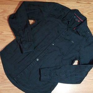 G by guess  black dress shirt